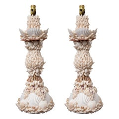 Pair of Shell Encrusted Table Lamps
