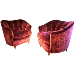 Pair of Shell-Shaped Armchairs