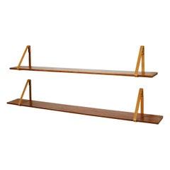 Pair of Shelves Designed by Kristian S. Vedel, Denmark, 1960s