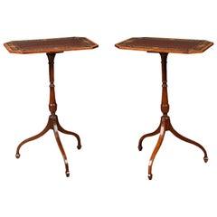 Pair of Sheraton Revival Lamp Tables