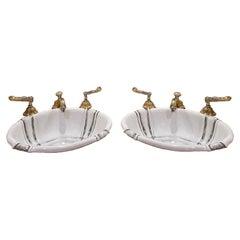 Pair of Sherle Wagner Sinks