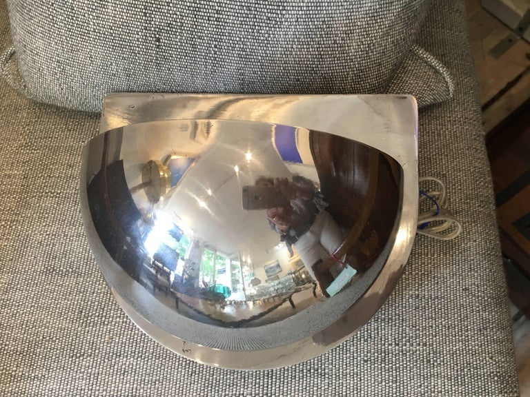 Chrome Pair of Ship's Nautical Bunk Lights, Midcentury For Sale