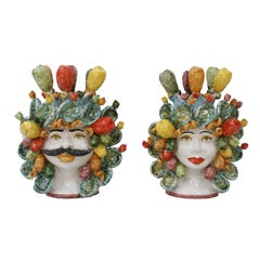 Pair of Sicilian Vases