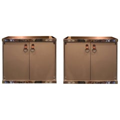 Pair of Side Cabinets by Guido Faleschini for Hermès, Italy, circa 1970
