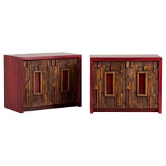 Pair of Side Cabinets Designed by Lane, Altavista, USA, 1960s
