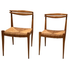 Pair of Side Chairs by Guillerme et Chambron