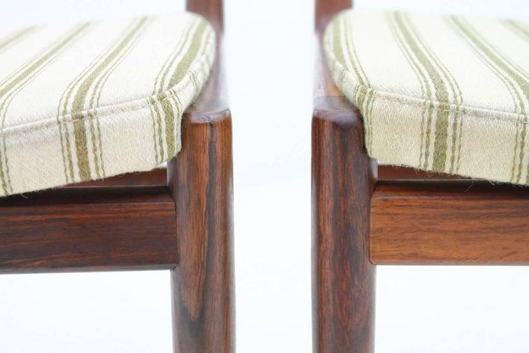 Fabric Pair of Side Chairs by Kai Lyngfeldt-Larsen for Søren Willadsen, Denmark, 1960s For Sale