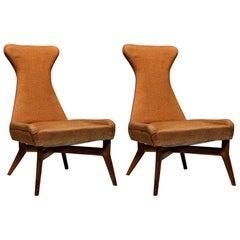 Pair of Side Chairs by Silvio Cavatorta