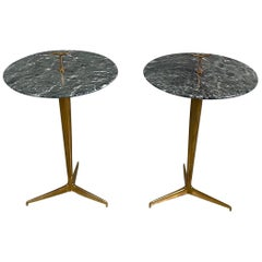 Pair of Side Coffee Table in Brass by Osvaldo Borsani, 1950