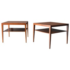 Pair of Side or End Tables by Severin Hansen for Haslev, circa 1960