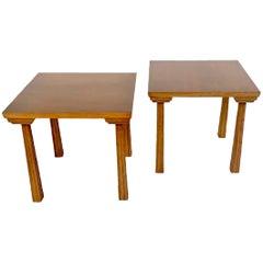 Pair of Side Table by T.H. Robsjohn-Gibbings Klismos for Saridis, Greece