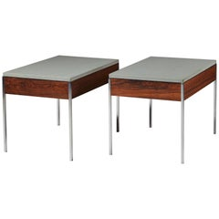 Pair of Side Table Designed by Uno & Östen Kristiansson for Luxus, Sweden, 1960