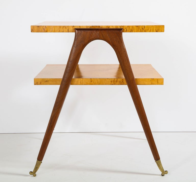 Pair of Side Tables Attributed to Osvaldo Borsani For Sale 4