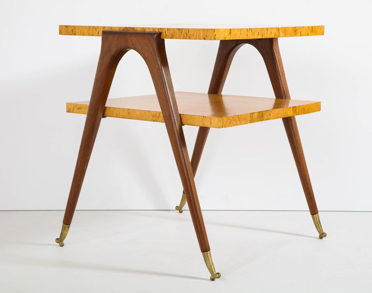 Pair of Side Tables Attributed to Osvaldo Borsani For Sale 5