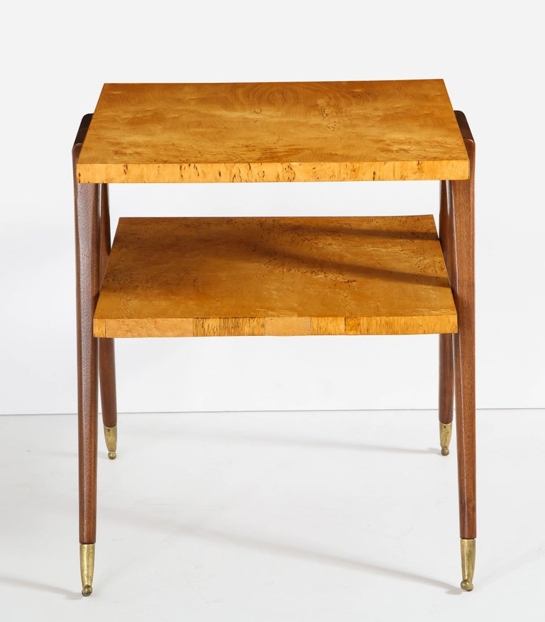 Pair of Side Tables Attributed to Osvaldo Borsani For Sale 6