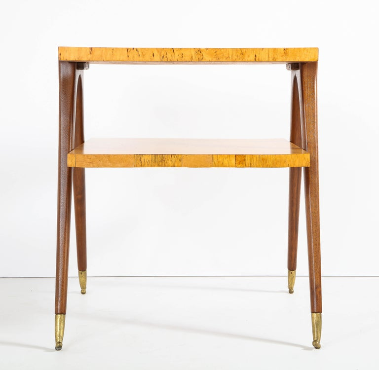 Pair of Side Tables Attributed to Osvaldo Borsani For Sale 7