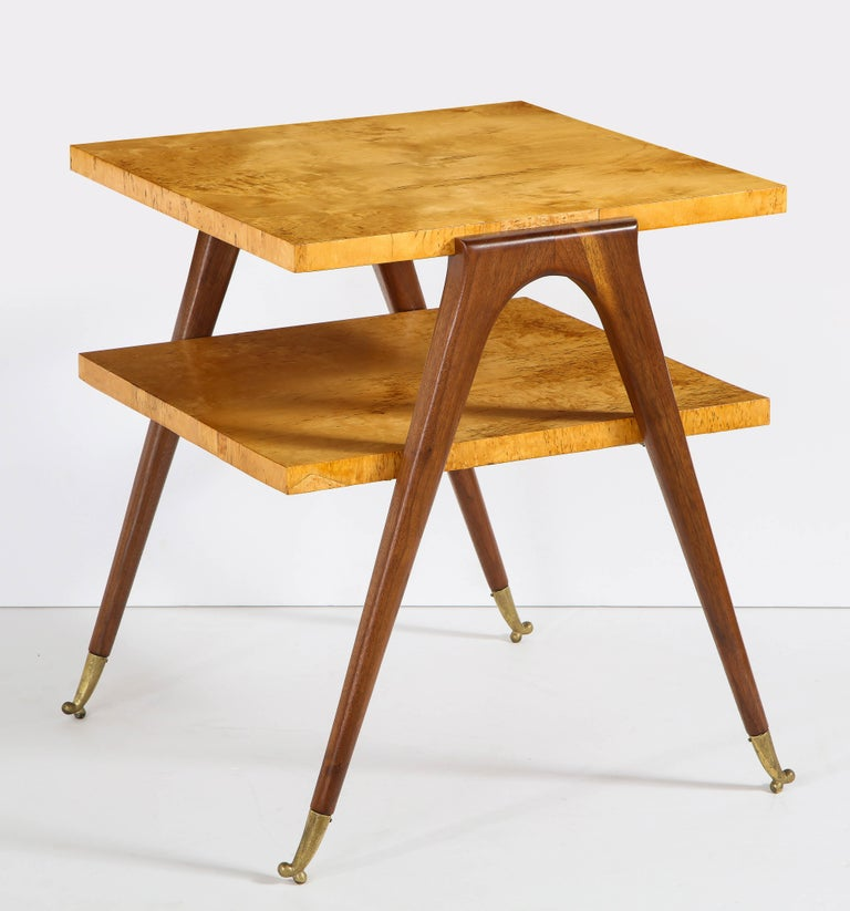 Pair of Side Tables Attributed to Osvaldo Borsani In Fair Condition For Sale In New York, NY