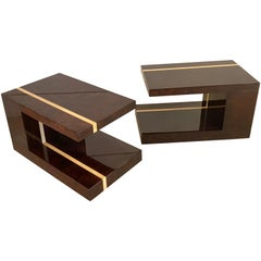Pair of Side Tables by Aldo Tura