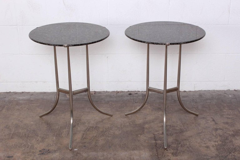 Pair of Side Tables by Cedric Hartman In Good Condition For Sale In Dallas, TX