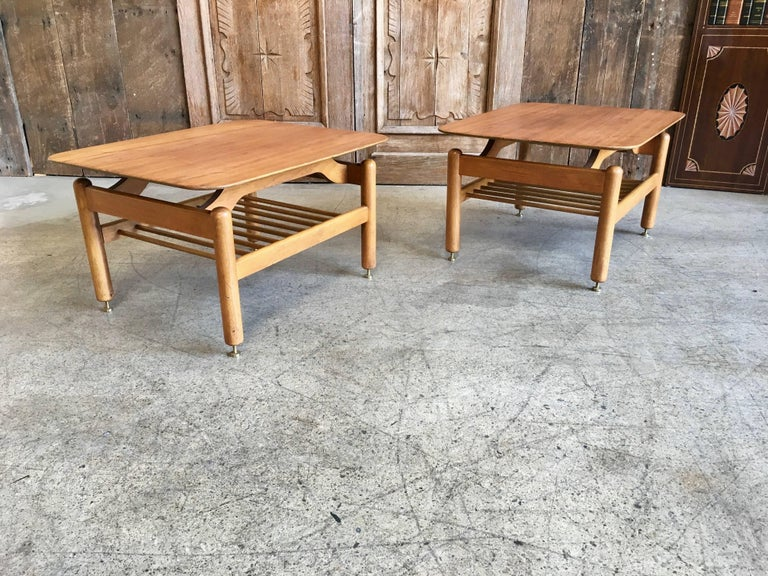 Mid-Century Modern Pair of Side Tables by Greta Grossman For Sale