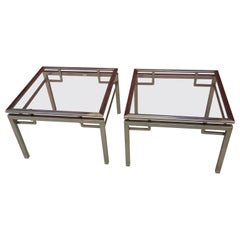 two Side Tables by Guy Lefevre for Maison Jansen, France, 1970s
