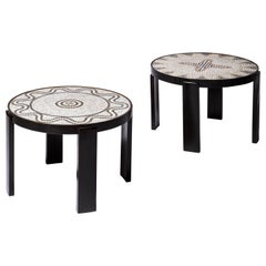 Pair of Side Tables by Jacques Adnet Et Jacques Lenoble