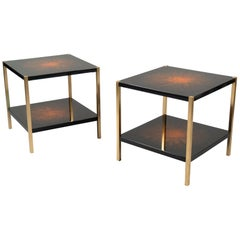 Pair of Side Tables by Maison Charles, France, 1970s
