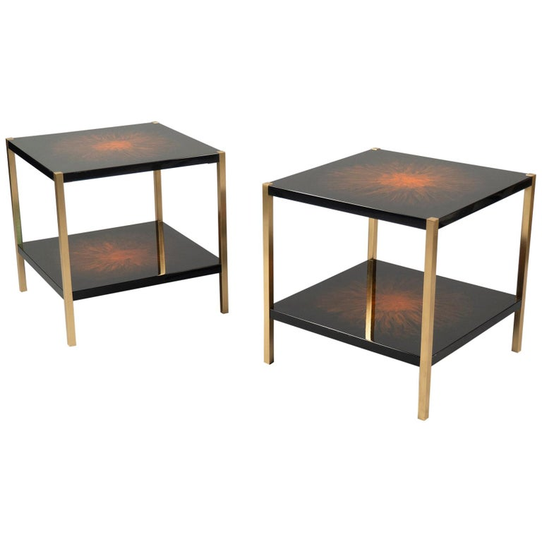 Pair of Side Tables by Maison Charles, France, 1970s For Sale
