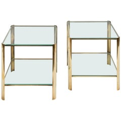 Pair of Side Tables by Maison Malabert