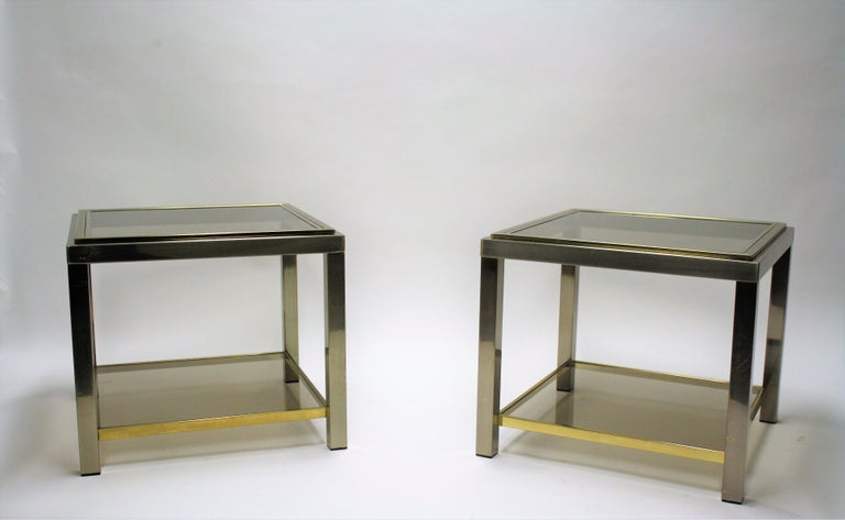 Pair of Side Tables Byjean Charles, 1970s 2