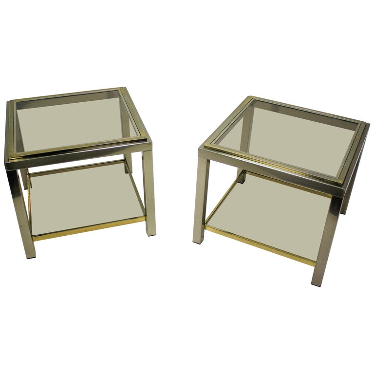 Pair of Side Tables Byjean Charles, 1970s 1