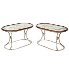 Pair of Side Tables Designed by Alain Delon for Maison Jansen