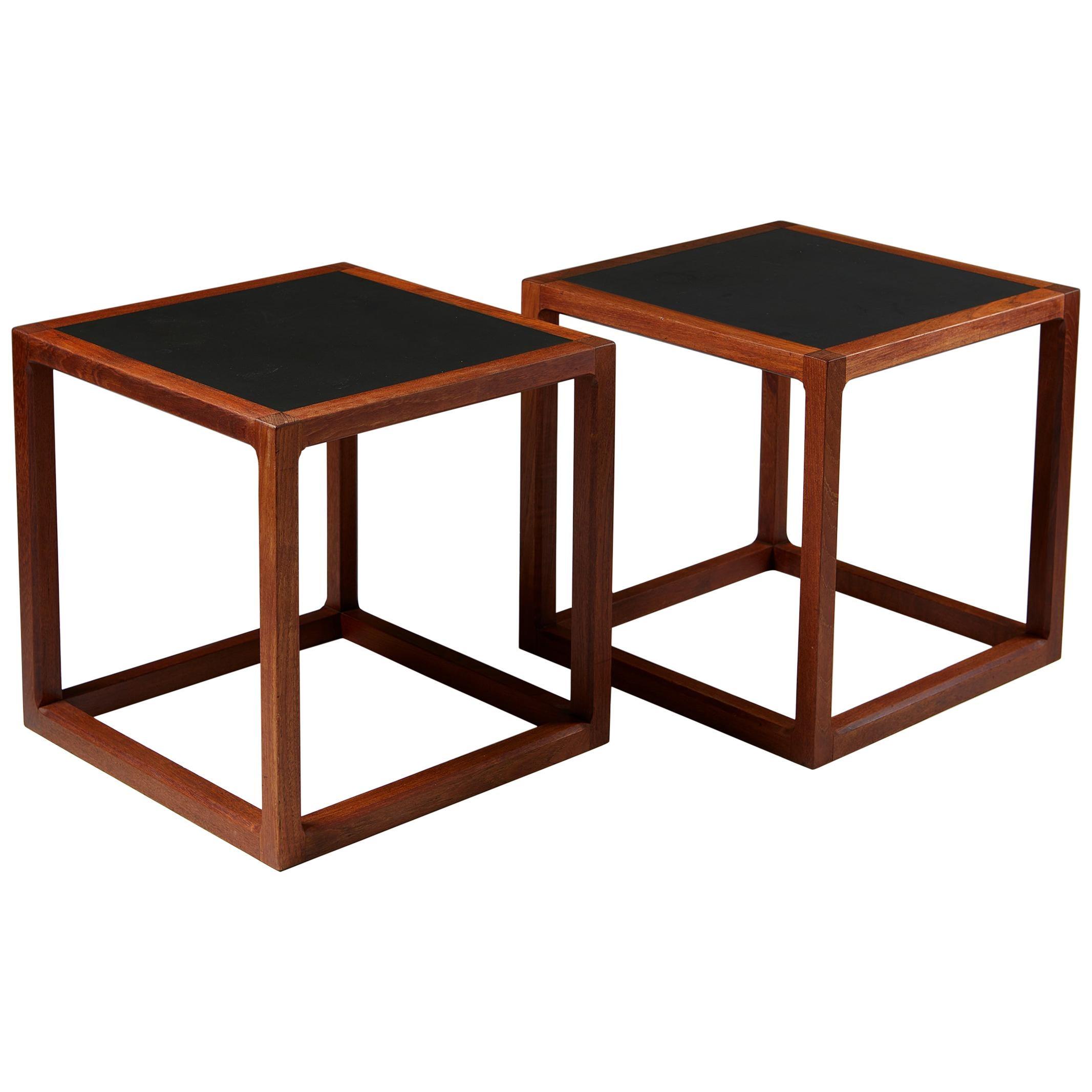 Pair of Side Tables Designed by Kai Kristiansen for Aksel Kjersgaard