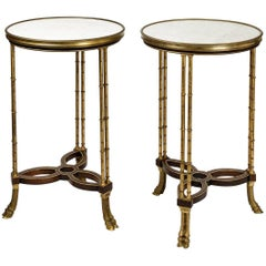 Pair of Side Tables Gueridon Attributed to Adam Weisweiler, circa 1900