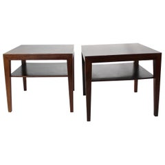 Pair of Side Tables in Rosewood by Severin Hansen for Haslev Furniture, 1960s