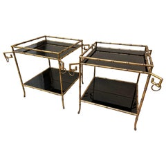 Pair of Side Tables, in the Style of Jansen, 2000