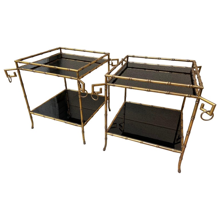 Pair of Side Tables, in the Style of Jansen, 2000 For Sale
