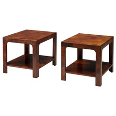 Pair of Side Tables in Walnut, 1960s