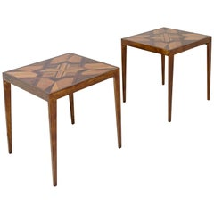 Pair of Side Tables of Various Noble Woods