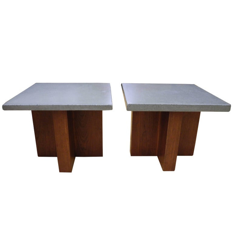 Pair of Side Tables or Nightstands Coffee Tables by CR Design