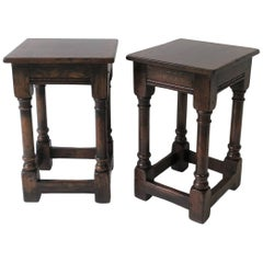 Pair of Side Tables or Stools