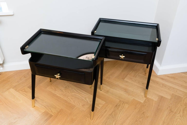 Italian Pair of Side Tables, Italy, circa 1950 For Sale