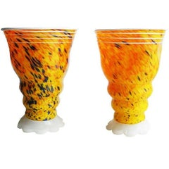 Pair of Signed Barovier & Toso Murano Table Lamps