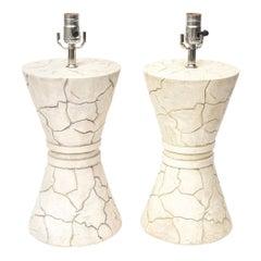 Pair of Signed Ceramic Lamps Modern