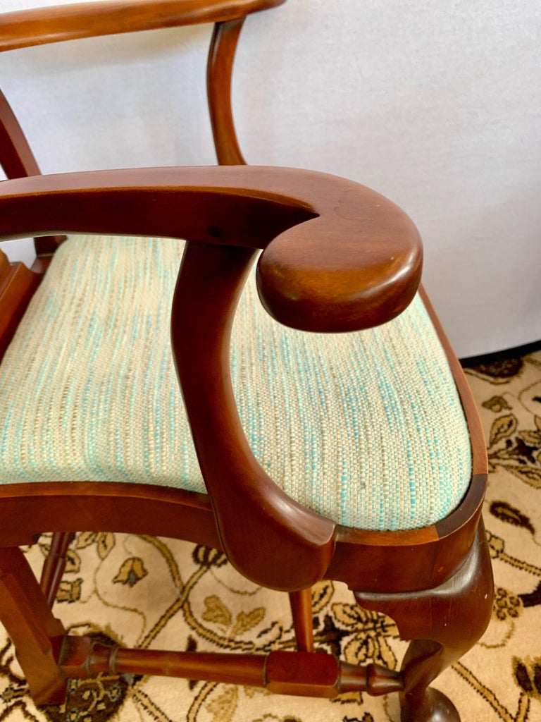 20th Century Pair of Signed Eldred Cherry Wood Armchairs For Sale