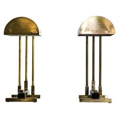 Pair of Signed Elite Diamant Lamps, 1930s