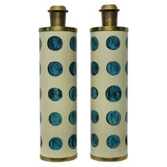 Pair of Signed Fornasetti Lamps