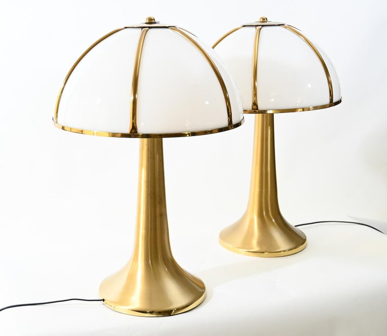 Pair of Signed Gabriella Crespi Fungo Table Lamps For Sale 5