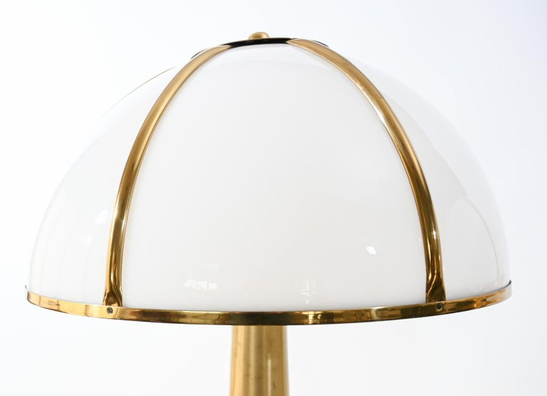 Mid-Century Modern Pair of Signed Gabriella Crespi Fungo Table Lamps For Sale