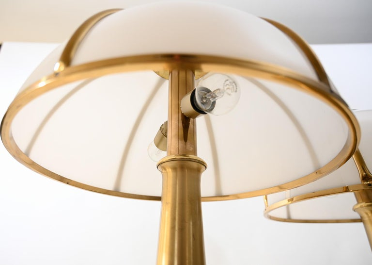 Late 20th Century Pair of Signed Gabriella Crespi Fungo Table Lamps For Sale